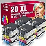 ms-Point 20x kompatible Druckerpatronen LC970 LC1000 für Brother