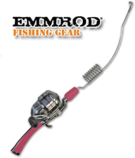 Emmrod 8 Coil Casting Rod Packer Combo - PINK Handle Compact Fishing Pole & Reel