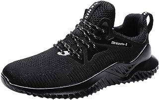JiaMeng Zapatillas de Deporte de Malla para Correr, Deportivas y de Ocio, Ligeras Antideslizantes Cordones Air Cushion Running Sports Sneakers