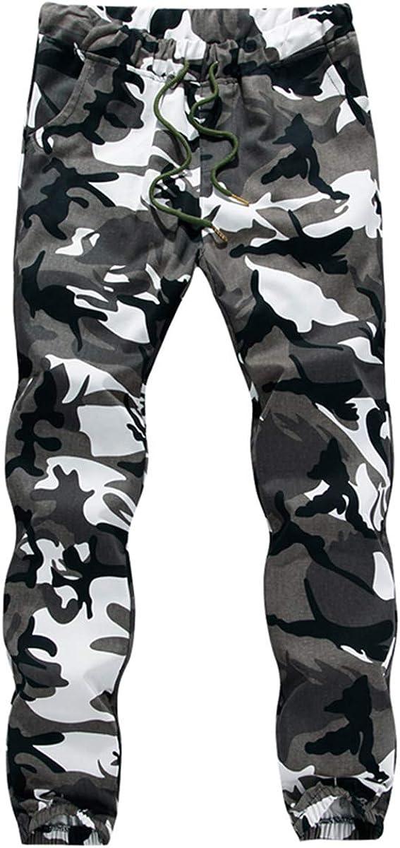 RUEWEY Men Camouflage Athletic Drawstring Elastic New life Sweatpan Shipping included Waist