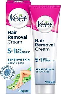 Veet Silk & Fresh Hair Removal Cream, Sensitive Skin - 100 g