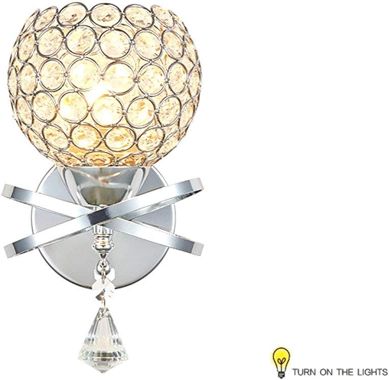 Zhang Ying ZY  Wandleuchte Moderne Einfache Kristall Einzelwandleuchte LED Wandleuchte Bettlampe Innenbeleuchtung (Farbe  A)