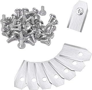 Yuanzi - Cuchillas de recambio para cortacésped de titanio muy sólido, con tornillos, accesorio para cualquier modelo