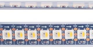 Mokungit RGBW RGBWW RGB+Warm White SK6812 (Similar WS2812B) 3.3ft/1m 144leds/m Individually Addressable Flexible 4 Color in 1 LED Dream Color LED Strip Black PCB Waterproof IP67 DC5V