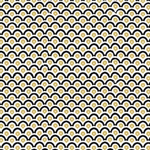 CasaJame Set di 40 (2 Confezioni da 20 Pezzi cad) Tovaglioli in Carta Monouso 3 Strati Veli 33x33cm Multicolore Motivo Disegni Geometrici