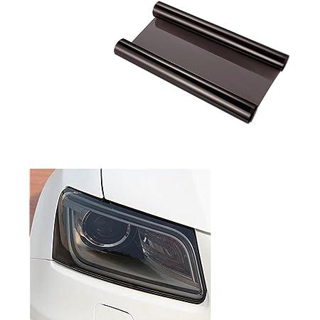 Aby 200cm X 30cm Scheinwerfer Folie Tönungsfolie Aufkleber Für Auto Scheinwerfer Rückleuchten Blinker Nebelscheinwerfer Schwarz Auto