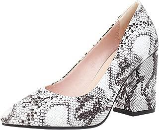 VulusValas Women Block Heel Pumps Shoes