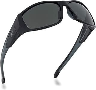 BNUS Sunglasses for Men & Women, Polarized glass lens, Color Mirrored w/Case for Sports