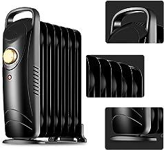 ZDYLM-Y Radiador de Aceite portátil, 700W Radiador de Aceite con protección contra el sobrecalentamiento, termostato Ajustable, asa de diseño