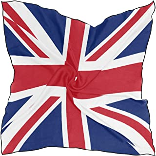 British Flag Scarf Womens Square Silk Scarves Shawl Wrap Neckerchief for Lady Girls