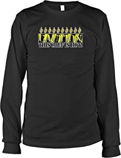 Hoodteez Caution, This Chef is Hot Men's Long Sleeve Shirt