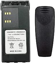 Teseko Teseko HNN9009 HNN9009A HNN9013A Two-Way Radio Battery Replacement for for Motorola HT750 HT1225 HT1250 PR860 7.4V 2000mAh Li-ion Battery with Belt Clip