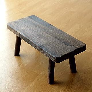 花台 フラワースタンド 木製 おしゃれ ナチュラル 天然木 鉢置き台 ウッドスクエアスタンドL [hbr6740] (B)