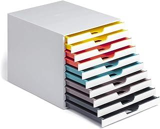 Durable 763027 Module de classement Varicolor Mix 10 Tiroirs de H22 mm pour Documents A4, Folio, Enveloppes