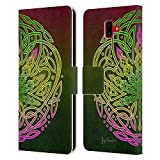 Head Case Designs Offizielle Brigid Ashwood Cannabis Keltisch Leder Brieftaschen Huelle kompatibel mit Samsung Galaxy J6 Plus (2018)