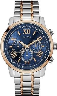 ساعة رسمية جيس للرجال w0379g7 - بعقارب، معدن فضي ذهبي