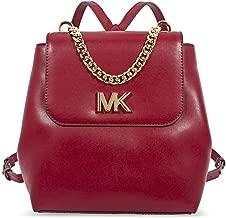 Michael Kors Women's Mott Medium Backpack No Size (Maroon)