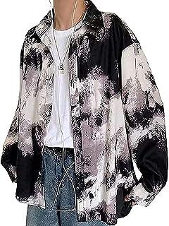 [アスペルシオ] 長袖 総柄 カジュアルシャツ トップス メンズ
