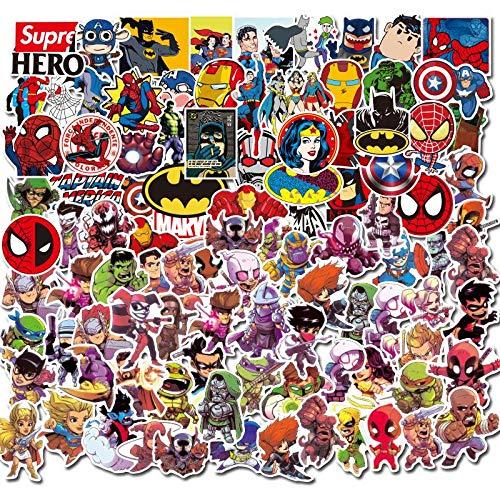 YZFCL Marvel Anime Superhero Graffiti Sticker Suitcase Computer Water Cup Waterproof Car Notebook Sticker 100pcs