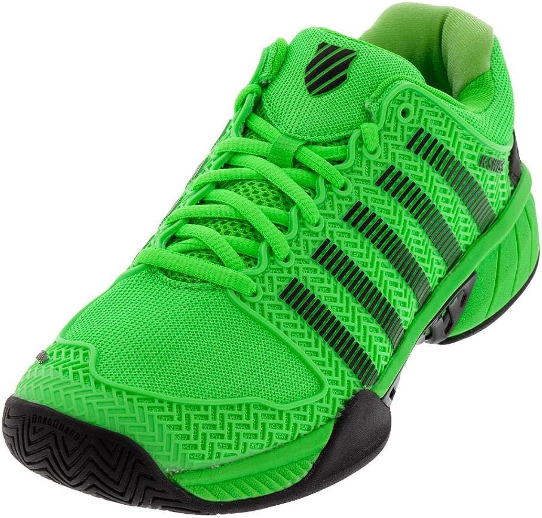 K-Swiss-Men`s Hypercourt Express Tennis shoes Neon Lime and Black-()
