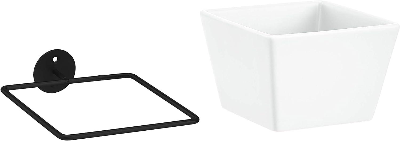 2-Pack White//Black Basics Wall Planter Square