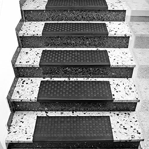 Torrex Coprigradini–Vasca 30096realizzato in gomma–65x 25cm–con spigoli e antiscivolo per gradini esterni e interni stair Mat