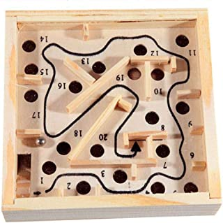 DAWEIF Wooden Maze Game Labyrinth Board Ball Puzzle Game for Adults, Boys and Girls Educational Gift