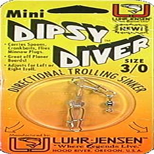 Luhr Jensen Mini Dipsy Diver, Clear/Clear Bottom,...