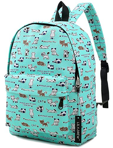 """MEDIUM size 15-inch backpack. Please note there are two sizes: small and medium. This medium-sized backpack is 15.5"""" tall x 11.5"""" wide x 6.3"""" deep. Binders, folders and laptop computers will fit. See pictures and description for reference and further..."""