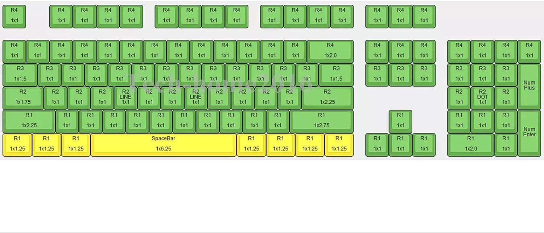 104 Keys Blank Non Printed Transparent Keycaps Backlit Keycap ANSI Layout OEM Profile for Cherry MX Mechanical Keyboard Purple