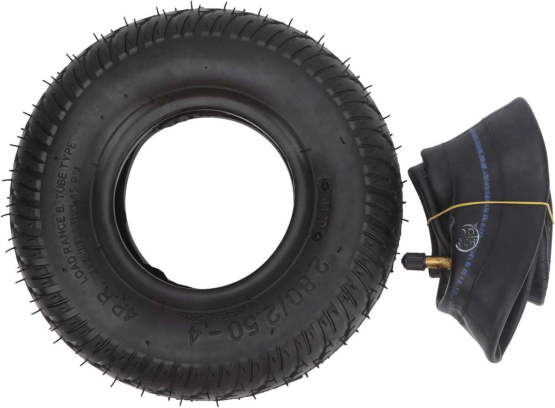2.80‑2.50‑4 Neumático, que no se deforma fácilmente Neumático de silla de ruedas eléctrica para patinetes eléctricos Patinetes para personas mayores Sillas de ruedas eléctricas, carros, etc.