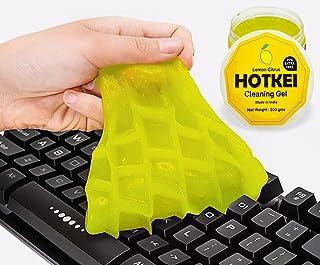 HOTKEI (Pack of 2) Lemon Scented Multipurpose Car Interior Ac Vent Keyboard Laptop Dust Cleaning Cleaner Kit Slime Gel Jel...