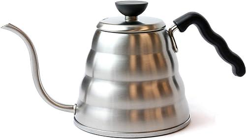 Hario V60 Buono Gooseneck Coffee Kettle, Stovetop (1.2L/ 1200 mL), Stainless Steel, VKB-120HSV