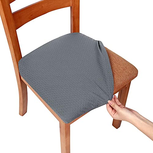 b564d49df469f Smiry Stretch Spandex Jacquard Dining Room Chair Seat Covers