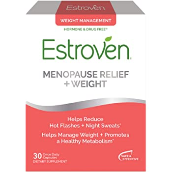Estroven Menopause Relief + Weight Management Caps-Helps Reduce Hot Flashes & Night Sweats, Original Version, 30 Count (Pack of 1)
