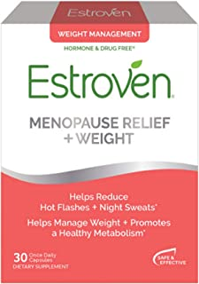 Estroven Menopause Relief + Weight Management | Multi-Symptom Menopause Relief | Helps Reduce Hot Flashes & Night Sweats* ...