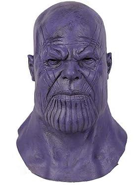 Thanos Mask Infinity Glove Latex Headwear Full Head Adult Teens Helmet Halloween Cosplay Costume Prop