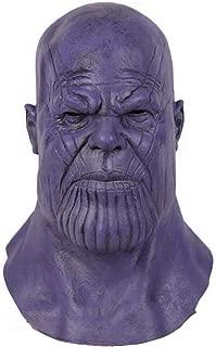 Thanos Mask Latex Headwear Full Head Adult Teens Helmet Halloween Cosplay Costume Prop