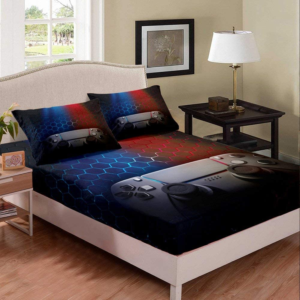 Erosebridal Trust New item Gaming Bedding Set Twin Size Kids Game Cover Bed for