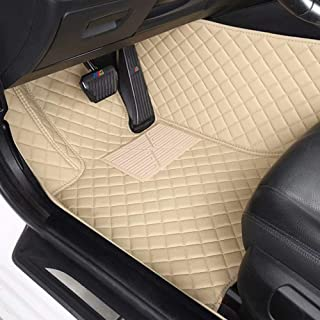 AUTURN Waterproof Custom Fit Luxury XPE Leather Car Floor Mats All Weather 3D Full Surrounded Front Rear Car Floor Liners for Honda City 2015-2018, Beige