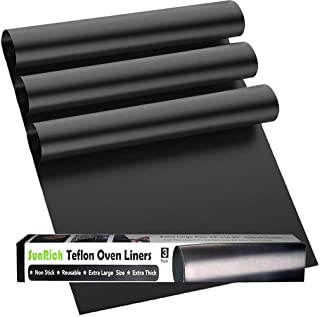 Nonstick Oven Liner for Bottom of Electric,Gas,Toaster & Microwave Ovens - 500 Degree Reusable Oven Protector Liner - Extr...