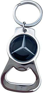 Benzie Bottle Opener Stainless Steel Key Chain Ring for Mercedes Benz Fans