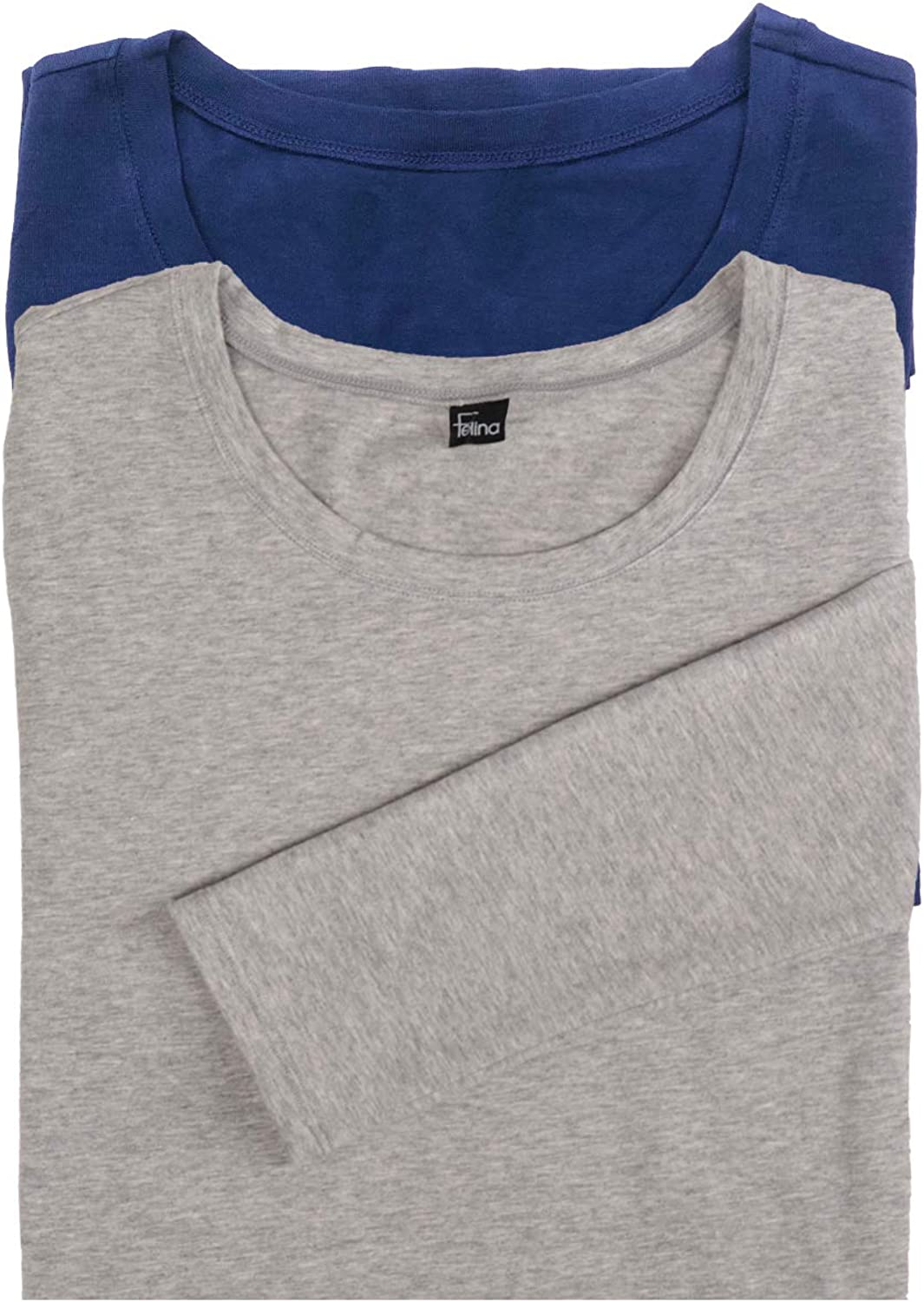Felina SEAL limited product Key Item Long Sleeve Outlet SALE Crew Modal Neck Tee 2 Cotton