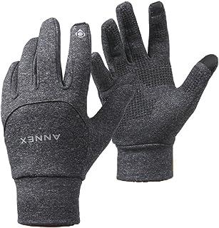 ANNEX Smartphone Touch Screen Gloves Men's Women's Winter Warm Outdoor Sports Grey