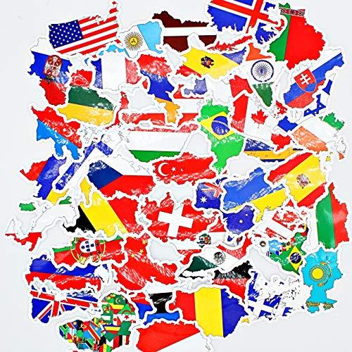 greestick sticker vlaggen wereld landen Europa 50 stuks nationale vlaggen sticker vaandels vakantie reizen koffer souvenir