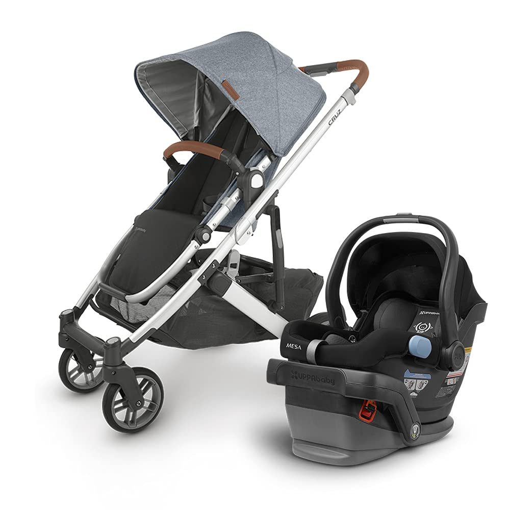UPPAbaby Cruz Max 53% OFF V2 Stroller - Gregory Saddle Marl Blue Silver Seattle Mall Lea