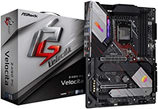 ASRock Z490 Phantom Gaming Velocita Supports 10 th Gen and Future Generation Intel Core TM Processors Motherboard (Socket ...