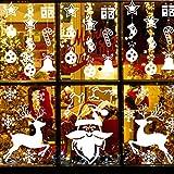Emooqi Navidad Pegatina De Ventana, Ventana Navidad Decoraciones/DIY Copo De Nieve Alce De...