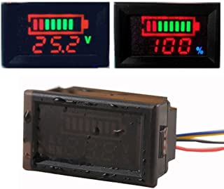 Miaomiaogo Waterproof DC 5-48V Digital Panel Voltmeter Voltage Meter Tester LED Display Replacement for Car Motorcycle Boat