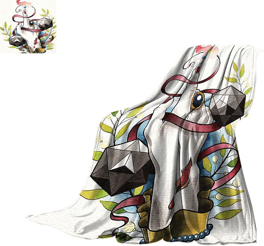 Trippy Art Decor Cheap mail order shopping All 5 ☆ very popular Season Blankets Psychic Lady Mystical Hand